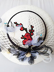 Tulle Chiffon Lace Fabric Silk Net Headpiece-Wedding Special Occasion Birthday Party/ Evening Fascinators Hats 1 Piece