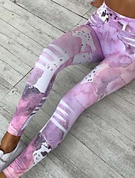 cheap -Women's Medium Print Legging Green Blushing Pink