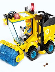 cheap -Building Blocks Toy Cars Toys Excavating Machinery Engineering Plastics Children's Pieces