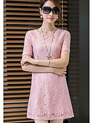 cheap -Women's Classic & Timeless Lace Dress - Jacquard
