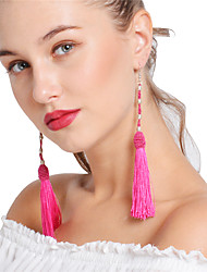 abordables -Femme Gland / Multicouches Balle Boucles d'oreille goutte / Boucles d'oreille gitane - Gland / Sexy / Multicouches Rouge / Vert / Vin Des