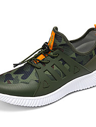 Men's Athletic Shoes Comfort Summer Fall Tulle Running Shoes Athletic Casual Outdoor Office & Career Work & Safety Army Green Gray Black