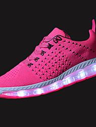 Недорогие -Жен. Обувь Полиуретан Весна Осень Удобная обувь Спортивная обувь Для прогулок На плоской подошве Круглый носок Шнуровка LED для