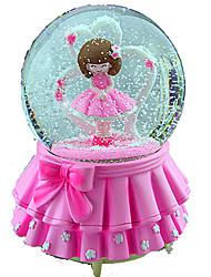baratos -Bolas Caixa de música Brinquedos Redonda Cristal Peças Feminino Para Meninas Aniversário Dom