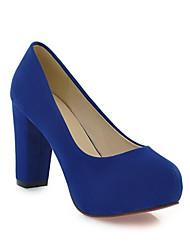 Damen Schuhe Echtes Leder PU Herbst Winter Komfort Pumps High Heels Für Normal Schwarz Rot Grün Blau Mandelfarben