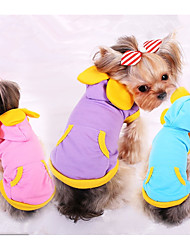 cheap -Dog Sweatshirt Dog Clothes Solid Colored Purple / Blue / Pink Cotton Costume For Pets Men's / Women's Casual / Daily