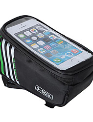 cheap -B-SOUL Waterproof Tube Bag Bike Frame Bag Cell Phone Bag 5.7 inch Wearable Phone Holder Touch Screen Cycling for iPhone 5C iPhone 4/4S