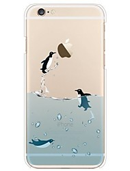 Etui til iPhone 7 6 penguin tpu blødt ultra-tyndt bagside cover cover iphone 7 plus 6 6s plus se 5s 5 5c 4s 4
