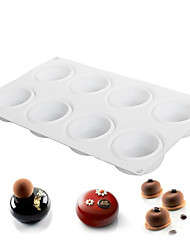 8 Cavity Round Stone Shaped Silicone Mold Baking and Dessert Molds