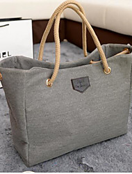 cheap -Women's Bags Canvas Shoulder Bag for Casual Outdoor All Seasons Blue Black Gray