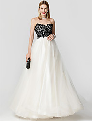 cheap -Princess Sweetheart Floor Length Lace Tulle Formal Evening Dress with Lace by TS Couture®