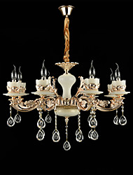 Chandelier ,  Traditional/Classic Zinc Alloy Feature for Crystal Mini Style Metal Living Room Bedroom Study Room/Office 8 Bulbs