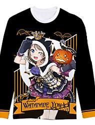 Inspiriert von Liebesleben Cosplay Anime Cosplay Kostüme Cosplay-T-Shirt Karton Langarm Top Für Unisex