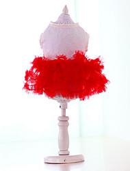 abordables -Chien Robe Vêtements pour Chien Décontracté / Quotidien Princesse Jaune Rouge Vert Rose Costume Pour les animaux domestiques