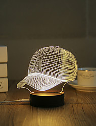 cheap -1 Set, Popular Home Acrylic 3D Night Light LED Table Lamp USB Mood Lamp Gifts, Hat