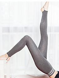 abordables -Mujer Panti Medio Nailon Sólido,1pc Negro Gris Oscuro Gris Gris Claro