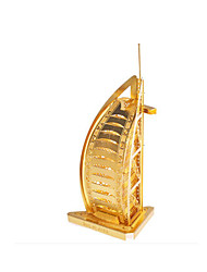 Недорогие -Пазлы Металлические пазлы Знаменитое здание Корабль Бурдж аль-Араб 3D Своими руками Медь Металл Универсальные Подарок