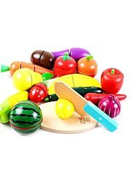 economico -Imposta cucina giocattolo Giochi di emulazione Giocattoli Verdure Affetta-frutta e affetta-verdure Frutta e verdure Frutta di legno Da