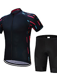 cheap -FUALRNY® Cycling Jersey with Shorts Men's Short Sleeves Bike Clothing Suits Bike Wear Quick Dry Moisture Permeability Reflective Strips