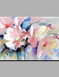 Ручная роспись Цветочные мотивы/ботанический Горизонтальная,Modern 1 панель Холст Hang-роспись маслом For Украшение дома