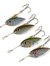 cheap -4 pcs Spoons Buzzbait & Spinnerbait Metalic Copper Bait Casting Spinning Jigging Fishing Freshwater Fishing Other General Fishing Lure