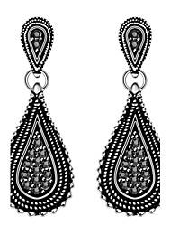 abordables -Mujer Pendientes colgantes Zirconia Cúbica Obsidiana Negro Gema Diseño Básico Hipoalergénico Estilo lindo Gótico Estilo Simple Clásico