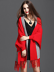 cheap -Knitwear Wedding Women's Wrap With Tassel Capes Classical Feminine Style