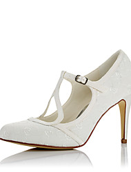 Women's Heels Comfort Fall Winter Satin Wedding Dress Party & Evening Stiletto Heel Ivory 3in-3 3/4in