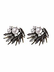 Men's Women's Stud Earrings Imitation Pearl Acrylic Basic Fashion Punk Personalized Hip-Hop Hypoallergenic Classic Alloy Flower Jewelry