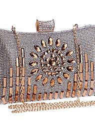 Damen Taschen Ganzjährig Polyester Abendtasche mit Strass Kristall für Hochzeit Veranstaltung / Fest Formal Gold Schwarz Silber