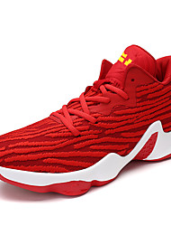 Men's Shoes Knit Fall Winter Comfort Athletic Shoes Basketball Shoes Lace-up For Athletic Casual Royal Blue Red Gray Black