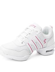 abordables -Femme Baskets de Danse Tulle Basket De plein air Fantaisie Talon Plat Personnalisables Chaussures de danse Noir et Or / Rose et blanc /