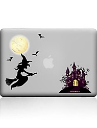 MacBook Case For New MacBook Pro 13 15 Air 11 13 Pro Retina 13 15 Macbook 12 Case Cover PVC Material Transparent Halloween Day 3D Cartoon MacBook Case