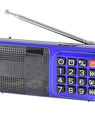 cheap -L-83 FM Portable Radio Alarm Clock / MP3 Player / Sleep Timer TF Card World Receiver Red / Blue