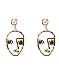 Femme Boucles d'oreille goujon Obsidienne Mode Vintage Personnalisé Imitation de perle Acrylique Alliage Bijoux PourQuotidien Décontracté