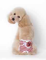 preiswerte -Hund Pyjamas Hundekleidung Lässig/Alltäglich Streifen Schwarz Rot Marineblau Kostüm Für Haustiere