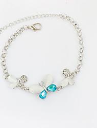 abordables -Femme Forme de Noeud Chaînes & Bracelets Bracelets de tennis - Basique Forme de Noeud Animal Blanc Bleu Bracelet Pour Anniversaire Cadeau