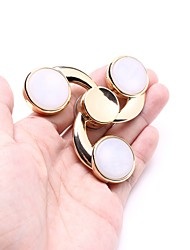 Golden Alloy Colorful Lights Fidget Spinner Toys Hand EDC Focus ADHD Autism Anxiety Relief