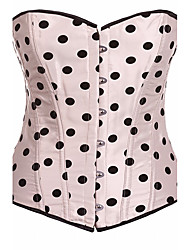 LuckyOne Women's Overbust Corset NightwearSexy Push-Up Polka Dot-Thick