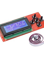 Недорогие -2004 lcd smart display screen controller module с кабелем для рампы 1.4 arduino mega pololu shield arduino reprap 3d printer kit accessor