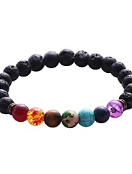Men's Women's Strand Bracelet Jewelry Fashion Adjustable Rock Cute Style Gothic Costume Jewelry Turquoise Alloy Circle Jewelry For Formal