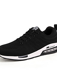 Men's Athletic Shoes Comfort Mary Jane Fall Winter Breathable Mesh Cycling Shoes Athletic Casual Outdoor Lace-up Flat Heel Black Blue Flat