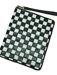 Women Bags All Seasons Cowhide Laptop Bag for Casual Office & Career Black-white