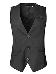 cheap -Men's Street chic Business Formal Slim Vest-Solid Colored / ONE-SIZE fits S to M, please refer to the Size Chart below. / Sleeveless