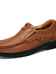 Men's Loafers & Slip-Ons Comfort Light Soles Formal Shoes Driving Shoes Spring Fall Real Leather Nappa Leather Cowhide Wedding Casual
