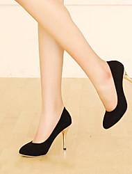 Damen Schuhe PU Sommer Komfort High Heels Stöckelabsatz Spitze Zehe Für Normal Schwarz Braun Rot