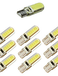 10pcs t10 cob 12 chips 150ma silicone coperture 194 w5w silicone caso auto auto luce auto di rosa dc12v