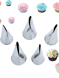 5 pcs flower tips nozzles Creative Icing Piping Nozzle Pastry Tips Sugar Craft Cake Decorating Tools
