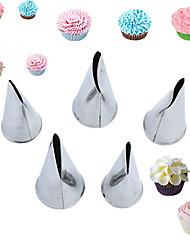 5 Stück Kuchenformen Neuheit Für den täglichen Einsatz Edelstahl + A Stufe ABS