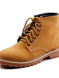 Men's Boots Comfort Novelty Fashion Boots Combat Boots Fall Winter Suede Walking Shoes Casual Outdoor Office & Career Lace-up Flat Heel